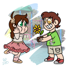 A flower for me?!