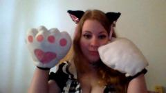 finished white kitty paws