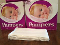 Vintage Diapers - Pampers 1970s