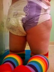 Diapee and socks.