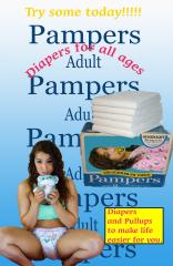 Diapers with Kitty C.