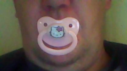 My new Hello Kitty pacifier :)