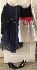 my dress collection, with tights and shoes