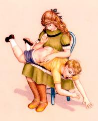 Spanking some diaper images