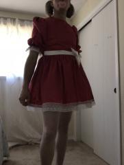 Red Peekaboo Dress
