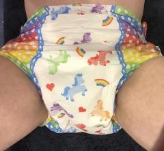 Me in My First Dotty Pride Diaper