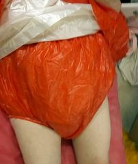 see through red panties